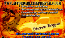 Affordable Jeep Rentals Bequia