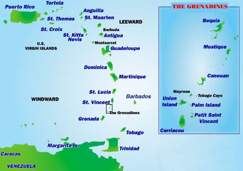 map grenadines
